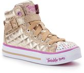 Skechers Twinkle Toes Shuffles Sweetheart Sole Girls' Light-Up Sneakers