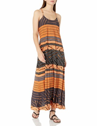 Donna Morgan Women's Spaghetti Strap Striped Maxi Dress