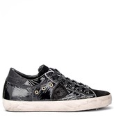 Philippe Model Paris Sneaker In Black Leather With Suede