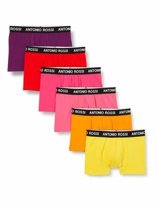 FM London Antonio Rossi Men's Fitted Boxer Hipsters (Pack of 12) Multicolor Medium