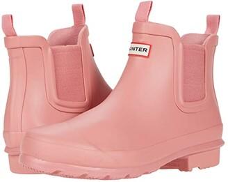 Hunter Original Chelsea (Little Kid/Big Kid) (Hibiscus Pink) Girls Shoes