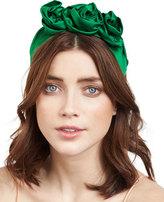 Jennifer Behr Rosette Silk Satin Headband