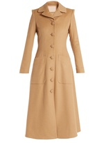 Brock Collection Connie single-breasted camel-hair coat