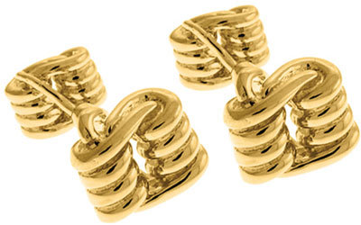 Tateossian Golden Knot Cufflinks