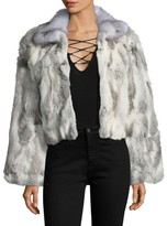 Adrienne Landau Solid Hooded Jacket