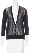 Akris Punto Perforated Knit Cardigan