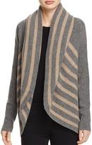 Splendid Striped Open Cardigan