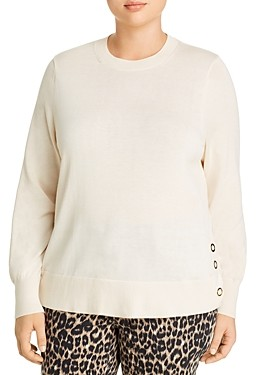 MICHAEL Michael Kors Side-Snap Sweater