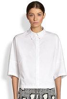 Stella McCartney Stitched Heart-Collar Boxy Shirt