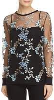 Elie Tahari Val Floral Embroidered Top