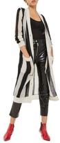 Topshop Women's Stripe Longline Cardigan