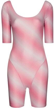 MAISIE WILEN Diagonal Stripe Print Playsuit