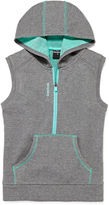 Reebok Sleeveless Contrast Hoodie - Preschool Girls 4-6x