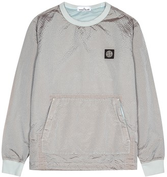 Stone Island Grey seersucker shell jacket