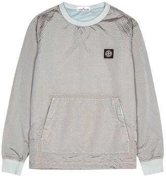 Stone Island Grey Seersucker Shell Jacket