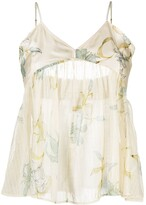 Thumbnail for your product : Forte Forte Cotton-Silk Blend Floral-Print Camisole