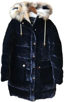 Ermanno Scervino Navy Silk Coat for Women