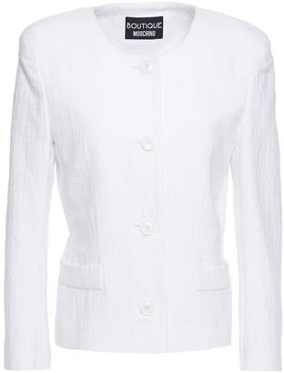 Boutique Moschino Croc-effect Cotton-jacquard Jacket