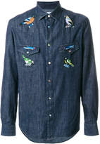 Paul Smith Western shirt with bird embroidery