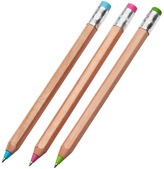 Container Store Wood Ballpoint Pens Natural Pkg/3