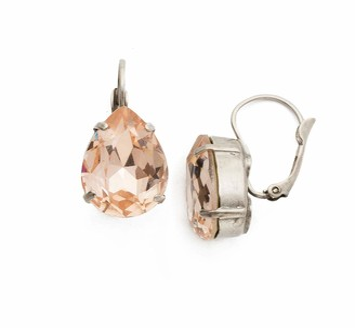 Sorrelli Womens Snow Bunny Classic Teardrop French Wire Drop Earrings
