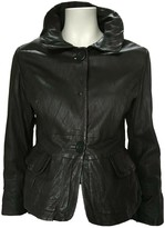 Sportmax Grey Leather Leather Jacket for Women