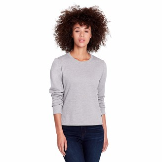 Skinnygirl Women's Shannon Flat Shoelaced Sides Long Sleeve Knit Pullover