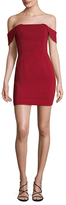 Jay Godfrey Off Shoulder Mini Dress