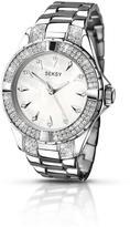 Seksy Silver Tone Dial Stainless Steel Bracelet Ladies Watch