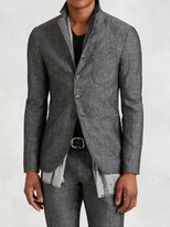 John Varvatos Cotton Linen Stitch Through Jacket
