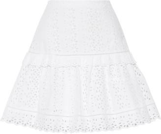 Rebecca Taylor Karina Broderie Anglaise Cotton Mini Skirt