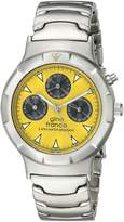 Gino Franco Men's Round Stainless Steel Multi Function Bracelet Watch YL