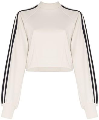 Y-3 Striped Cropped Sweatshirt