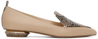 Nicholas Kirkwood Beige Python Nappa Beya 18 Loafers