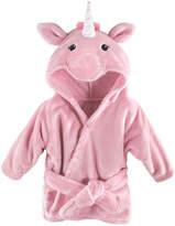 Hudson Baby Pink Unicorn Hooded Fleece Robe