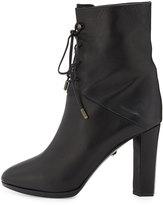 Diane von Furstenberg Paden Leather Lace-Up Bootie, Black