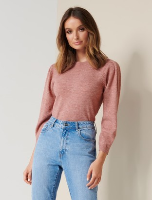 Forever New Miley Pleat Sleeve Jumper - Rusty Rose - s