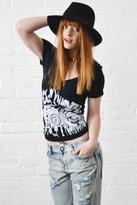 Lauren Moshi Zoe Hollywood Camera Swing V-Neck in Black