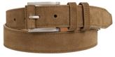 Johnston & Murphy Contrast-Stitched Suede Belt