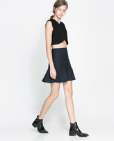 Pinstripe Mini Skirt