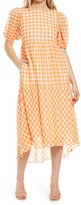 Thumbnail for your product : ENGLISH FACTORY Gingham Print Midi Dress