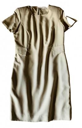 Non Signã© / Unsigned Ecru Silk Dresses