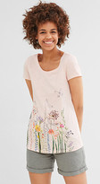 Esprit T-shirt with shiny print