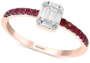 Effy Certified Ruby (1/5 ct. t.w.) & Diamond (1/5 ct. t.w.) Ring in 14k Rose Gold