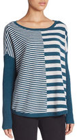 Lord & Taylor East-West Striped Cashmere Sweater