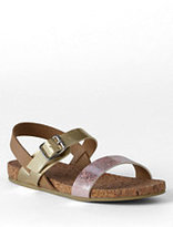 Classic Girls Kylie Play Sandals-Coral Peach Foil