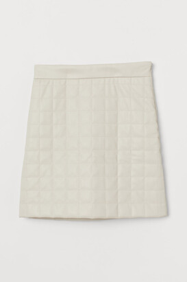 H&M Quilted Skirt - White