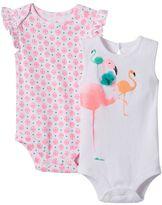 Baby Starters Baby Girl 2-pk. Flamingo Bodysuits