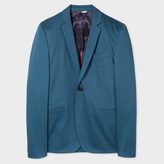 Paul Smith Men's Slim-Fit Petrol Blue Stretch-Cotton Blazer