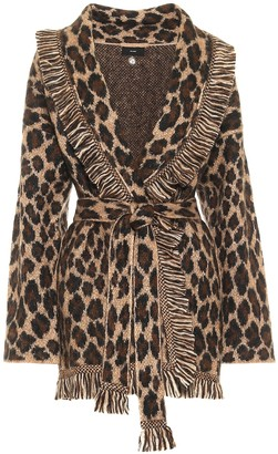 Alanui Exclusive to Mytheresa Wool-blend leopard-jacquard cardigan